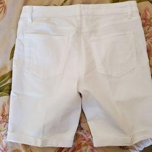 Talbots Denim Jean Shorts in White